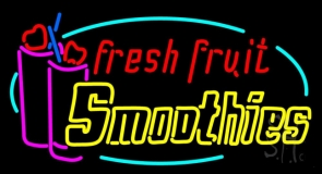 Oval Fresh Fruit Smoothies Logo LED Neon Sign
