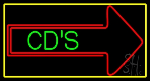 Cds With Arrow LED Neon Sign
