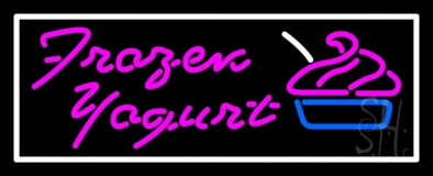 Pink Frozen Yogurt LED Neon Sign
