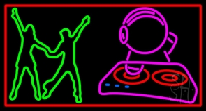 Cd With Dancing Couple LED Neon Sign