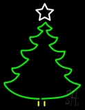 Christmas Tree Logo Neon Sign