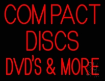 Compact Discs Dvds More LED Neon Sign