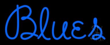 Cursive Blue Blues LED Neon Sign