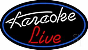Cursive Karaoke Live LED Neon Sign