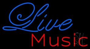 Cursive Live Music LED Neon Sign