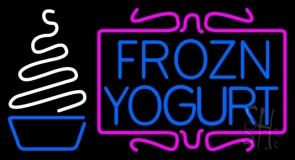 Pink N White Frozen Yogurt LED Neon Sign