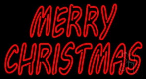 Double Stroke Merry Christmas LED Neon Sign