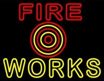 Double Stroke Stylish Fireworks LED Neon Sign