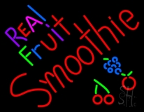 Real Fruit Smoothies LED Neon Sign