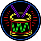 Drum And Stick LED Neon Sign