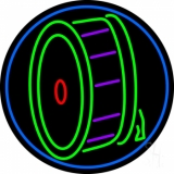 Drum Musical Note Logo LED Neon Sign
