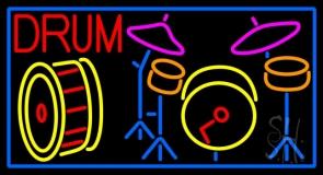 Drum Set LED Neon Sign