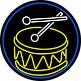 Drum Stick Logo LED Neon Sign