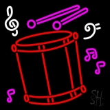 Drum With Musical Note LED Neon Sign