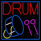 Drum With Stick LED Neon Sign