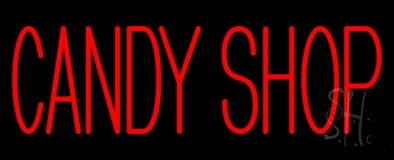 Red Candy Shop LED Neon Sign