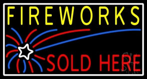 Fireworks Sold Here LED Neon Sign