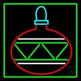 Green Border Christmas Bulb LED Neon Sign