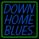 Green Border Down Home Blues LED Neon Sign