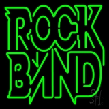 Green Double Stroke Rock Band LED Neon Sign