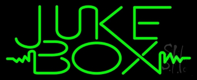 Green Juke Box Neon Sign