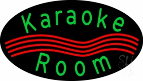Green Karaoke Rooms LED Neon Sign