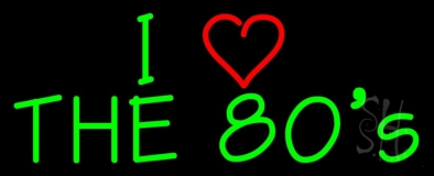 Green Love 80s Neon Sign