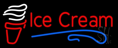 Red Ice Cream Cone LED Neon Sign