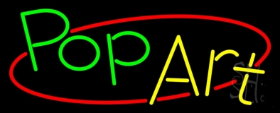 Green Pop Yellow Art Neon Sign