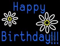 Happy Birthday LED Neon Sign