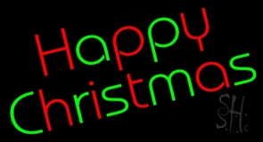 Happy Christmas Neon Sign