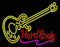 Hard Rock Guitar LED Neon Sign