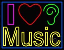 I Love Hearing Music LED Neon Sign