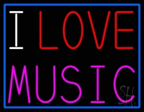 I Love Music LED Neon Sign