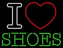 I Love Shoes Heart Logo LED Neon Sign
