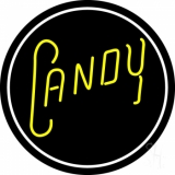 Round Yellow Candy LED Neon Sign
