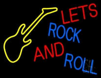 Lets Rock And Roll LED Neon Sign