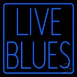 Live Blues Border LED Neon Sign