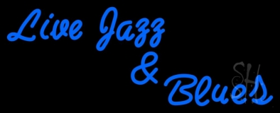 Live Jazz And Blues LED Neon Sign