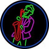 Man Playing Saxophone LED Neon Sign