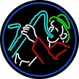 Man With Saxophone LED Neon Sign
