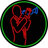 Man With Trumpet LED Neon Sign