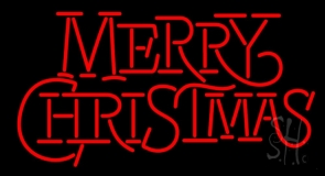 Merry Christmas Block LED Neon Sign