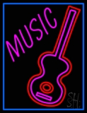 Music Guitar LED Neon Sign