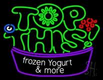 Top This Frozen Yogurt N More LED Neon Sign