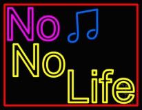 No Life No Music LED Neon Sign