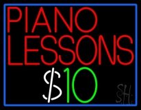 Piano Lessons Dollar LED Neon Sign