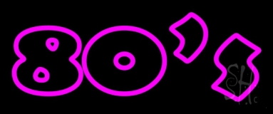 Pink 80s LED Neon Sign