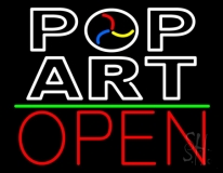 Pop Art With Open LED Neon Sign