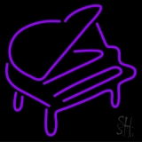Purple Piano LED Neon Sign